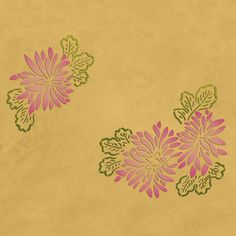Chrysanthemums Modern Masters Stencil from Royal Design Studio