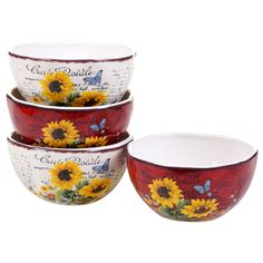 Sunflower Meadow Ice Cream Bowl