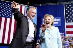 "Sen. Tim Kaine hit the campaign trail for the first time Saturday as the Democratic Party's vice presidential nominee, trashing Republican Donald Trump and vowing that he and Hillary Clinton will pursue a ""strong, progressive agenda"" in the White House."