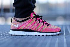 "Nike Free Flyknit NSW ""Pink Flash"""