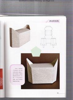 folding boxes: origami books - crafts ideas - crafts for kids Book Crafts, Diy And Crafts, Crafts For Kids, Paper Crafts, Cardboard Paper, Cardboard Furniture, Packaging Box, Pocketfold Invitations, Origami Box
