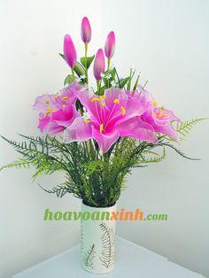 Hoa voan xinh | | Hoa voan trang trí | Hoa vải voan