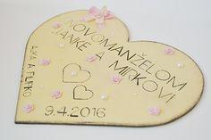 srdce pre novomanželov, krémovo- ružové