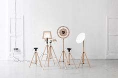 poorex introduces furniture collection with tripod base structure