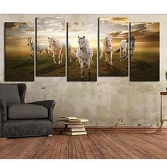 Stretched Canvas Art Animal A Pentium Horse Set of 5 – USD $ 79.99