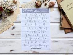 Angol Abc - kalligráfia gyakorló sablon