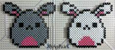 Bunny Eggs by PerlerPixie.deviantart.com on @DeviantArt Melty Bead Patterns, Pearler Bead Patterns, Perler Patterns, Beading Patterns, Hama Beads Design, Diy Perler Beads, Perler Bead Art, Pixel Art, Pony Bead Crafts