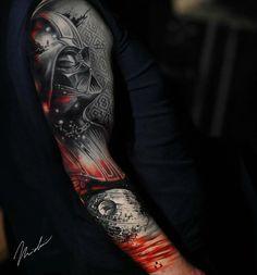// Star Wars sleeve in progress! Fusion Ink - Sister and Brother Star Wars Tattoo, Tatoo Star, War Tattoo, Tattoo Ink, Tribal Tattoos, Celtic Tattoos, Polynesian Tattoos, Geometric Tattoos, Life Tattoos