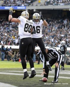 TE Jimmy Graham and WR Lance Moore #Saints #NFL #NOLA