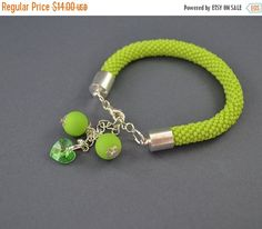 ON SALE FREE Shipping Jewelry, Bracelets, Beadwork, Bracelet, Crystal swarovski, bead crochet rope - Collection of fun color
