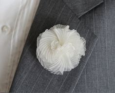 Hey, I found this really awesome Etsy listing at https://www.etsy.com/listing/233468918/white-flower-boutonniere-fabric