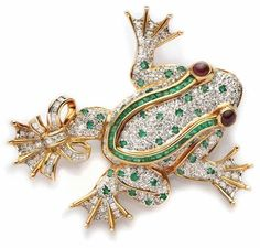 Bijou Van Cleef and Arpels, grenouille en or, diamant et émeraude