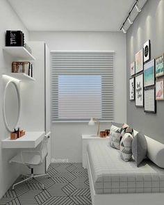 small bedroom ideas 2018 – kleine slaapkamerideeën 2018 – Share your vote! Room Ideas Bedroom, Small Room Bedroom, Small Rooms, Small Apartments, Bedroom Decor, Bedroom Themes, Teen Bedroom, Girl Bedrooms, Small Bedrooms Decor