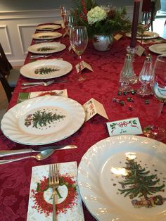 Nikko Christmastime China - Very Similar to Nannies Christmas Dishes with green napkins | Peppermint Christmas | Pinterest | Napkins Christmas tablescapes ... : nikko christmastime dinnerware - pezcame.com