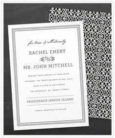minted wedding invitations, time and all eternity by j. bartyn