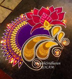 #lotus#pink#purple#yellow#mandala#kolam#rangoli                                                                                                                                                                                 More