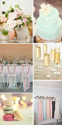 Wedding whimsy... loving this soft & romantic color palette!