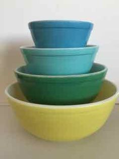 (This is an affiliate pin) Pyrex 400 Series 4-Piece Mixing Bowls Set, Multi-color Baking Supplies, Baking Tools, Baking Supply Store, Yellow Bowls, Mixing Bowls, Series 4, Program Design, Pyrex, Bowl Set