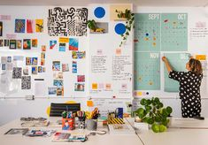Peek inside Camille Walala's new London studio, learn about her interactive workflow + hear more about her latest public art installation. Work Inspiration, Creative Inspiration, Camille Walala, London Design Festival, Interiores Design, Design Process, Pattern Design, Gallery Wall, Illustration