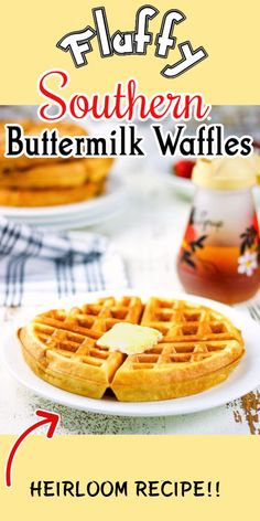 You'll love this easy buttermilk waffle recipe! Light and fluffy with rich country flavor that puts a smile on your face. SO good!  #easy #best #crispy #fluffy #fromscratch #oldfashioned Easy Buttermilk Waffle Recipe, Buttermilk Waffles, Homemade Buttermilk, Quick Bread Recipes, Waffle Recipes, Waffle Iron, How To Make Bread, Breakfast Ideas, Easy Meals