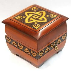 Small Wooden Box- Celtic Love Knot  sc 1 st  Pinterest & small wooden boxes | Art Design and Craft | Projects to Try ... Aboutintivar.Com