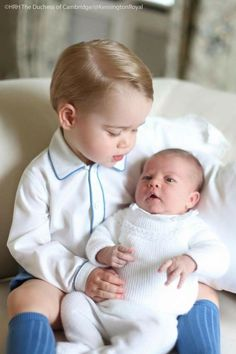 """Prince George and Princess Charlotte ~ I LOVE THEIR GRANDMOTHER """" DIANE"""", I LOVE THEIR FATHER AND MOM AND I LOVE THEM...."""