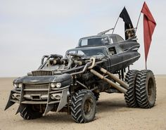 What happens when you fuse two Cadillac Devilles together and mount them on monster truck wheels? None other than Immortan Joe's Gigaghorse!