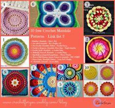 40+ Stunning Free Mandala Crochet Patterns | STOP searching and START making. CrochetStreet.com