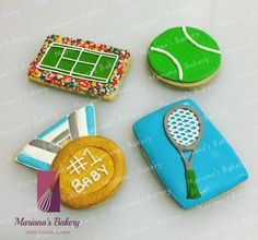 Sports Tennis ball birthday Baby Shower favor by MarianasBakery