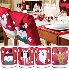 christmas chair back covers uk dining side chairs 416 best forros de sillas para navidad images in 2019 diy family gifts crafts for items craft ornaments table settings