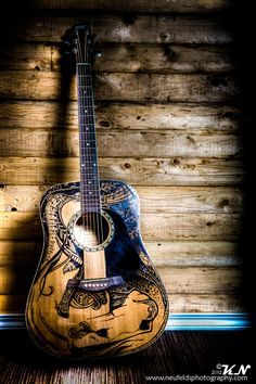 Guitar painted with sharpie