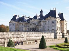 Château de Vaux-le-Vicomte  A baroque château located in Maincy, near Melun, 55 km southeast of Paris.   In 1641, Nicolas Fouquet, the young, 26 year old parliamentarian, bought the fief of Vaux le Vicomte and its small castle. Twenty years later, in 1661, Fouquet had transformed it into a unique masterpiece with a chateau and a garden that feature among the most beautiful in France.