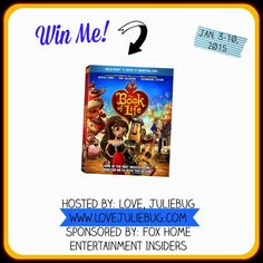 Enter to #win a copy of The Book of Life on Blu-ray Combo Pack from www.lovejuliebug.com! #giveaway ENDS 1/10