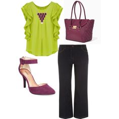 A fashion look from December 2014 featuring Chicnova Fashion blouses, Evans jeans and Style & Co. pumps. Browse and shop related looks.