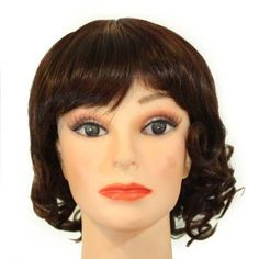 """13"""" Short Darkest Brown Tipped with Dark Auburn Big Curl / Bangs Synthetic Wig by Willowbee. $34.99. Color in these hair piece wigs will NOT fade or oxidize after long period in direct sunlight. Rich Hair Fibers. These hair pieces are Light and Comfortable. Mostly adjustable to your desired fitment. These Wigs are Easy to Maintain. 13"""" Short Darkest Brown tipped with Dark Auburn big curl / bangs synthetic wig"""