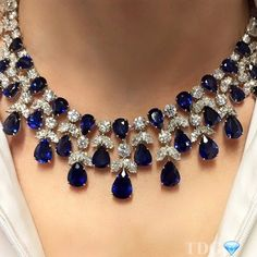 WE LOVE YOU HARRY! A magnificent sapphire and diamond necklace by the one and only WE LOVE YOU HARRY! A magnificent sapphire and diamond necklace by the one and only Harry Winston Royal Jewelry, High Jewelry, Luxury Jewelry, Vintage Jewelry, Jewelry Necklaces, Jewlery, Sapphire Jewelry, Sapphire Diamond, Blue Sapphire Necklace