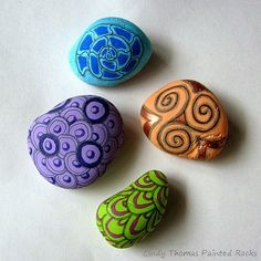 Painting Rock & Stone Animals, Nativity Sets & More: How to Paint Zentangle Patterns on Rocks and Stones