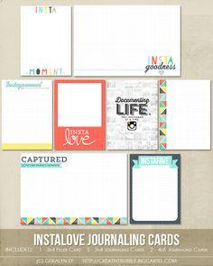 Image of *NEW* Instalove Journaling Cards (Digital)