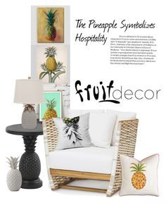 """""""The Hospitable Fruit"""" by patricia-dimmick ❤ liked on Polyvore featuring interior, interiors, interior design, home, home decor, interior decorating, Cost Plus World Market, Art for Life, Tommy Bahama and Bloomingville"""