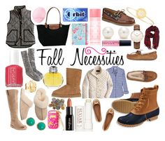 """""""( Read Below ) Fall Necessities CONTEST!!!!"""" by elizabethjamesw ❤ liked on Polyvore featuring J.Crew, Longchamp, Topshop, Victoria's Secret PINK, Lilly Pulitzer, Sperry Top-Sider, Sarah Chloe, Tiffany & Co., Butter London and Frye"""