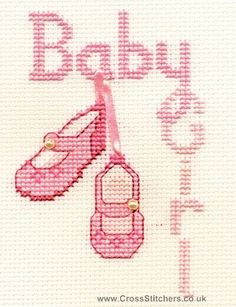 Baby Girl Greetings Card Cross Stitch Kit