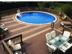 We have collected some great ideas to help those of you who have above ground pool deck plans as the deck is of significant importance. Even if you do not