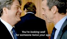 Peter Mannion being a sass master. Roger Allam, Actors, Film, Tv, Movie, Film Stock, Television Set, Cinema, Films