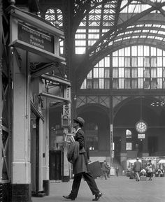 Pennsylvania Station in New York City 1960s   Photo: William Helburn [Philly Express]