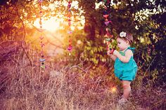 Backlighting Tutorial, love this shot and the props hanging in the trees. #photography