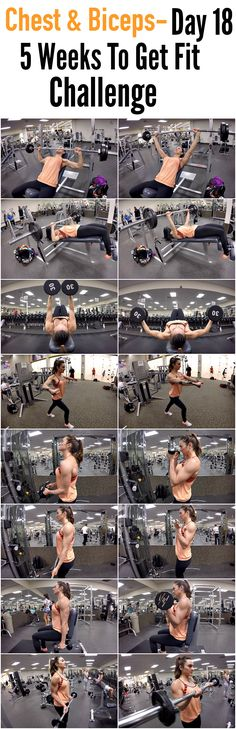 5 Weeks To Get Fit Challenge Day 18-CHEST & BICEPS!