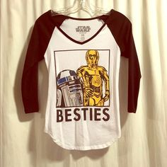 Star Wars bestie 3/4 sleeve T 3/4 sleeve Star Wars bestie shirt from Macy's.    Make me an offer  you don't know if you don't ask... I do bundle offers  Fast same or next day shipping  Macy's Tops Tees - Long Sleeve