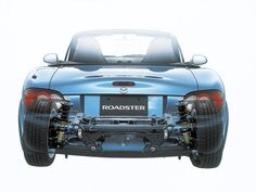 2000-2002 Mazda Roadster RS (NB8C) rear view - Photo overlay