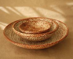 stoneware thrown bowls
