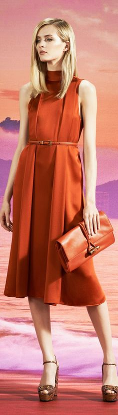 Bronzed-orange dress from Gucci